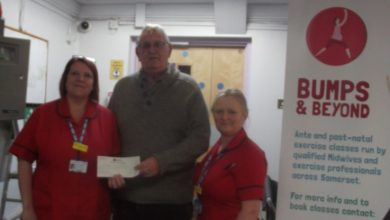 Photo of Tynte Lodge donate to Musgrove Park Hospital Maternity Unit