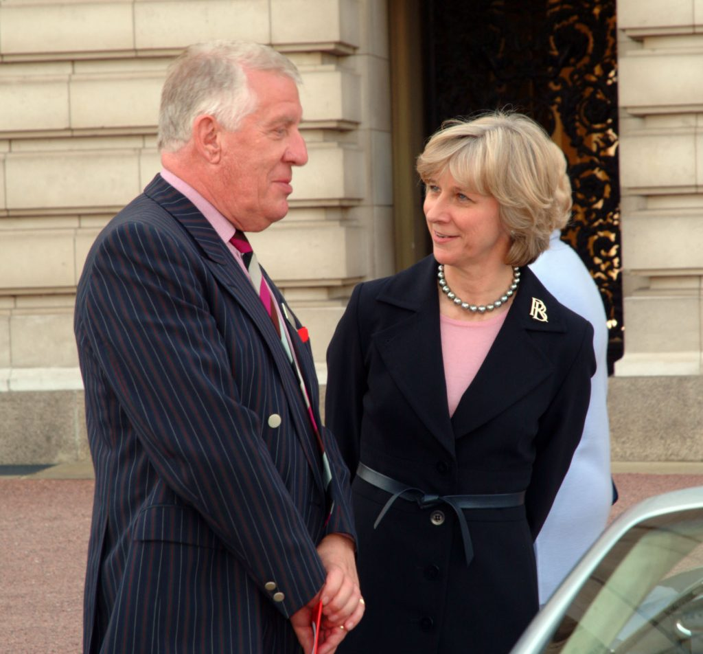John with the Duchess of Gloucester